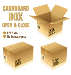cardboard boxes with icons vector image vector image