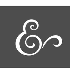 Custom ampersand vector image