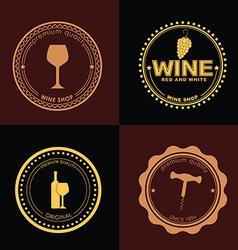 Logo Design for wine shops cafes restaurants vector image