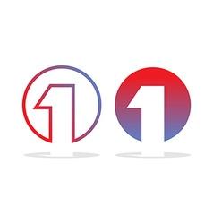 Number one logo Figure 1 emblem for company Design vector image vector image