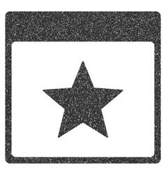 Star Calendar Page Grainy Texture Icon vector image
