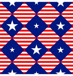 Stars Stripe USA Flag Diamond Chessboard vector image