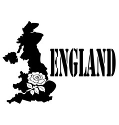 symbol of england and map vector image vector image