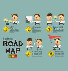 Business planning road map infographic vector image vector image