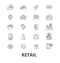 retail shopping mall consumerism sales shop vector image