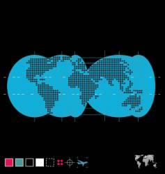 the globe vector image