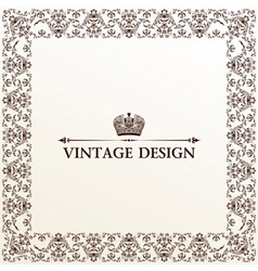 vector vintage royal retro frame ornament vector image vector image