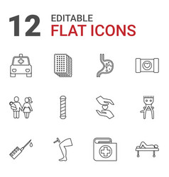 12 care icons vector