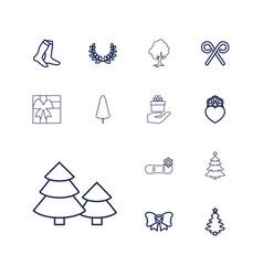 13 christmas icons vector