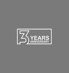 3 years anniversary logotype with white color vector