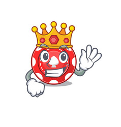 A stunning gambling chips stylized king on vector