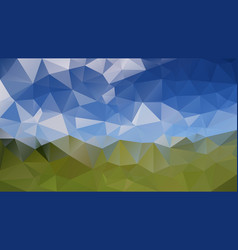 Abstract irregular polygonal background landscape vector