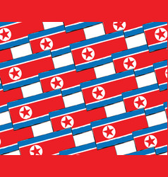 abstract north korea flag or banner vector image