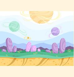 Alien seamless background moon surface strange vector