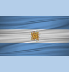argentina flag argentina flag blowig in the wind vector image