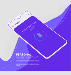 augmented reality personal voice assistant mobile vector image