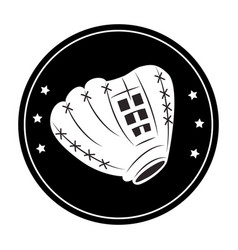 Baseball sport glove emblem icon vector