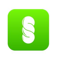 bread icon green vector image
