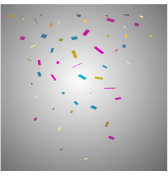 Confetti isolated on transparent background vector