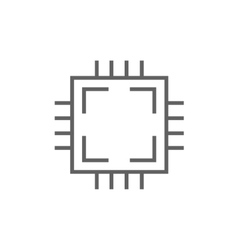 CPU line icon vector image