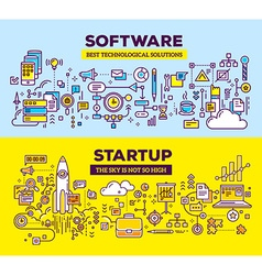 creative concept of software and technology vector image