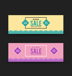 Creative sale web banners vector