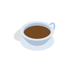 Cup of tea icon isometric 3d style vector image