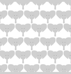 cute elephants heads pattern background vector image