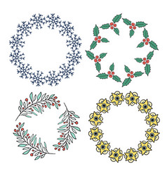 Cute new year decorative frame set for banners vector