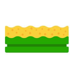 dishwashing sponge icon flat isolated vector image