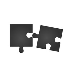 double piece flat puzzle two section compare vector image