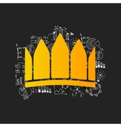 Drawing business formulas crown vector image