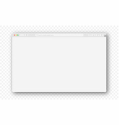 empty browser window on transparent background vector image