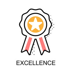 Excellence graphic icon vector