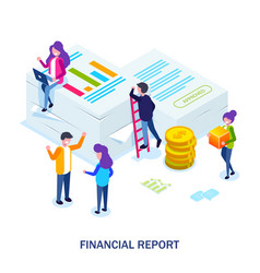 financial report concept people do paperwork vector image