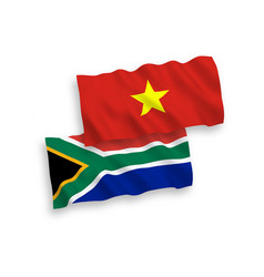 flags vietnam and republic south africa on a vector image