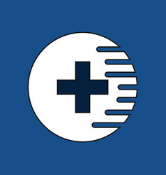 Flat icon design collection medical cross vector