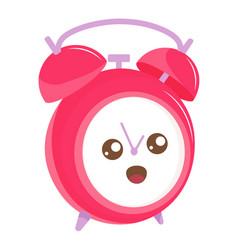 Funny alarm clock with surprise emotion on face vector