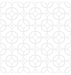 geometric seamless ornamental circles pattern vector image