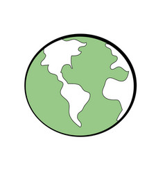 Global earth plenet with geography ubication vector