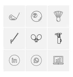 Golf whatsapp linkedin wifi sports games vector