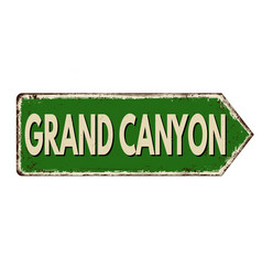 grand canyon vintage rusty metal sign vector image