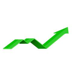 Green indication arrow up rising icon vector