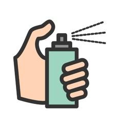 Holding Spray Bottle vector image