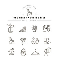 icon and logo for clothes and accessories vector image