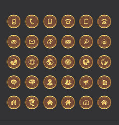 icon gold vector image