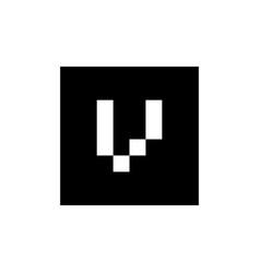 Initial alphabet v logo design v letter icon vector