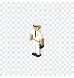 isolated sailor isometric seaman element vector image