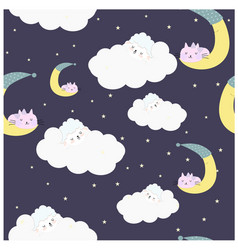 Lamb on the night sweet cloud vector