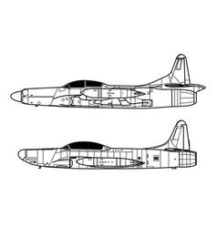 lockheed f-94 starfire vector image